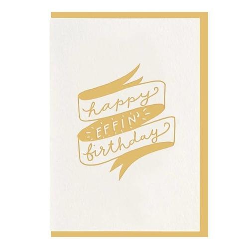 Effin' Birthday Card