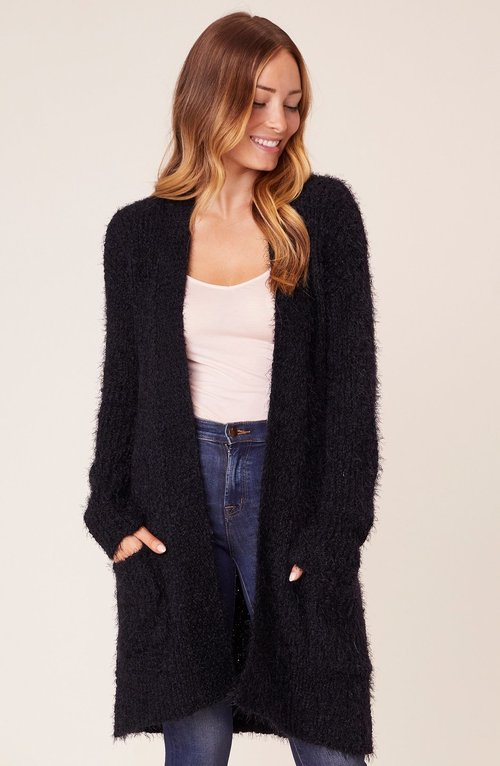 Cozy Express Black Cardigan