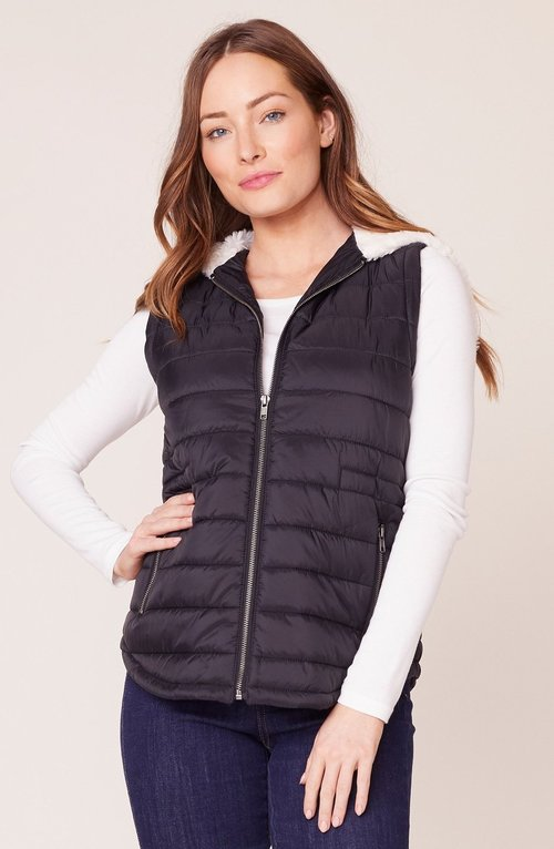 Take On Me Black Quilted Vest