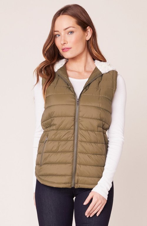 Take On Me Dark Sage Quilted Vest