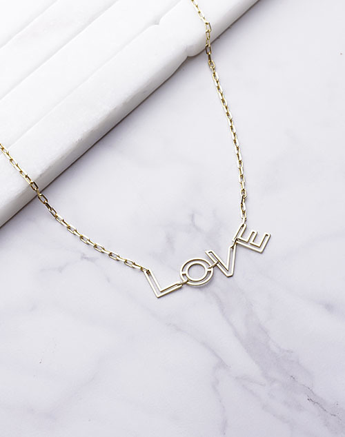 LOVE Outlined Necklace
