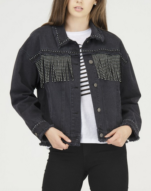 Fringed Denim Jacket