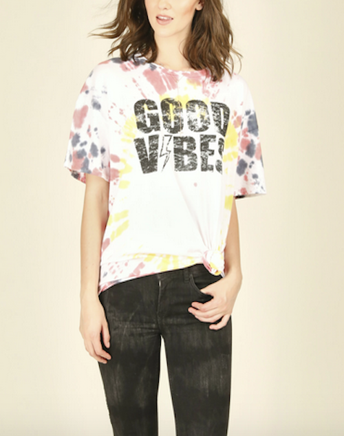 Good Vibes Tie Dye T Shirt