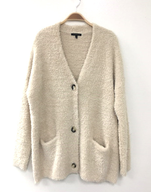 Fuzzy Very Soft Button Front Cardigan