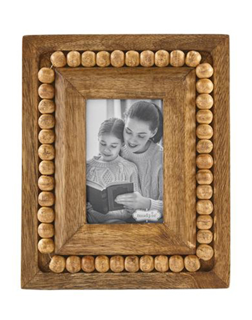 Small Rectangle Beaded Wood Frame