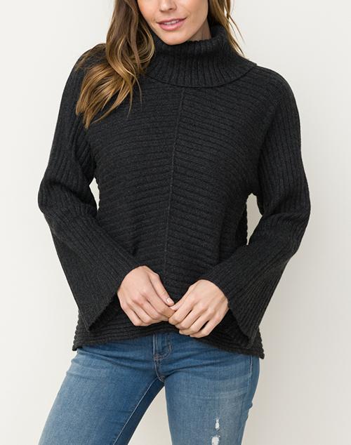 Dolman Sleeve Turtleneck Sweater
