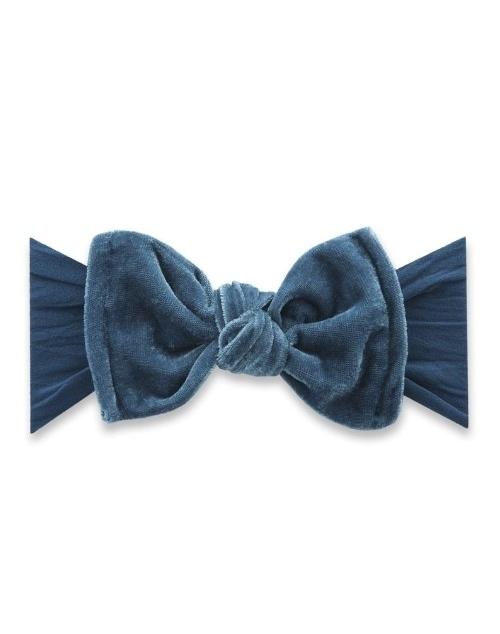 Velvet Knot Headband - Slate Blue