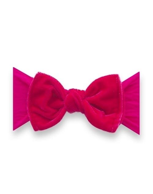 Velvet Knot Headband - Fuchsia