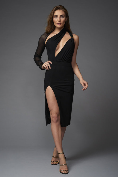Wrap Around Black Dress