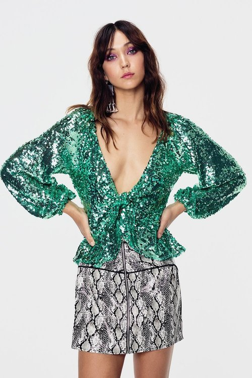 Madeleine Sequin Top