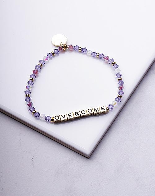 Little Words Project - Overcome Bracelet Gold