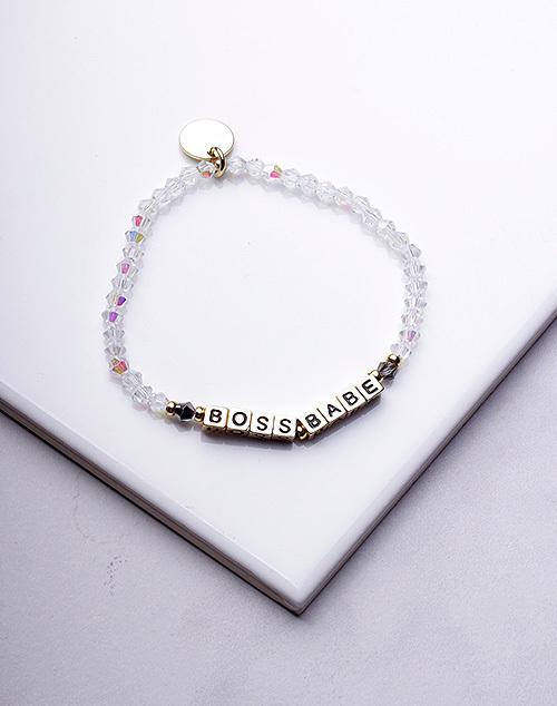 Little Words Project - Boss Babe Bracelet Gold