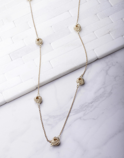 Knot Chain Long Necklace