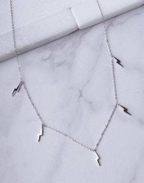 Mini Lightning Bolt Charm Necklace