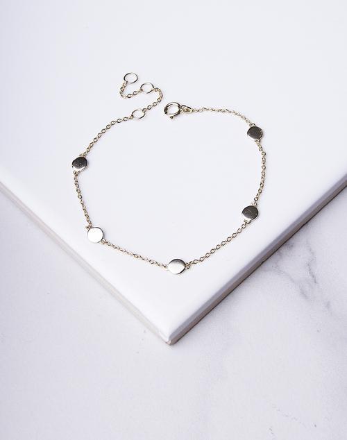 Circle Disc Chain Bracelet