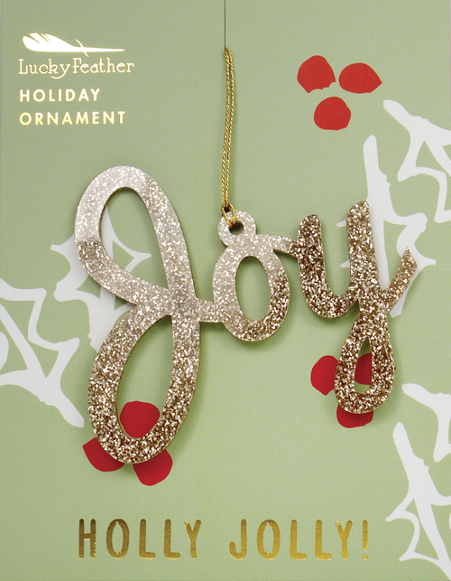Gold Glitter Joy Ornament