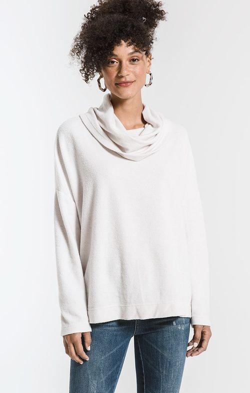 The Fleece Scallop Back Top