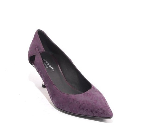 Purple Suede Leather Pointy Toe Classic Heel Pumps