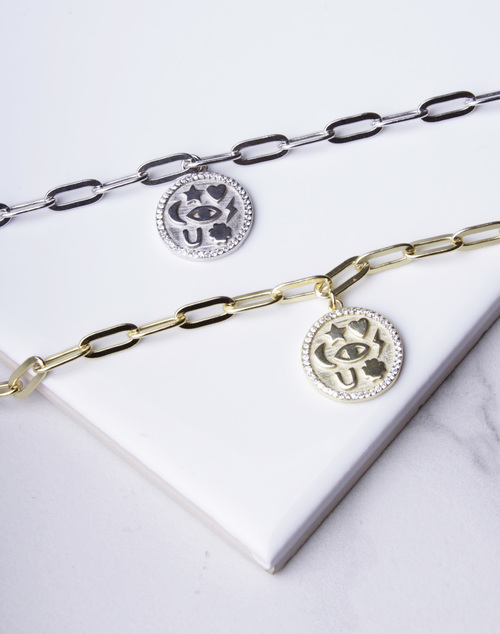 Link Chain Lucky Charm Bracelet