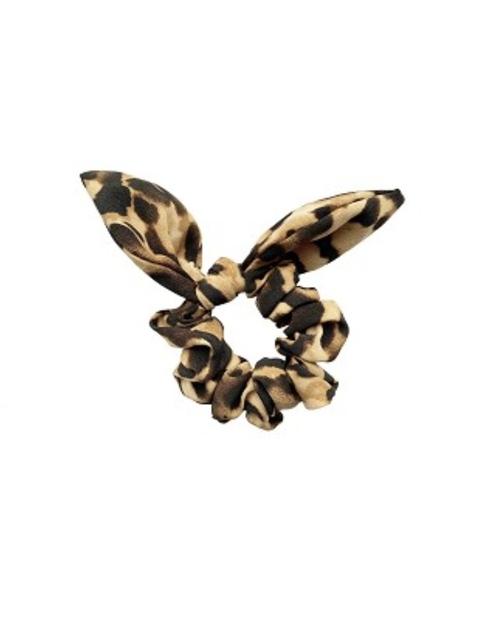 Light Animal Print Bow Scrunchie