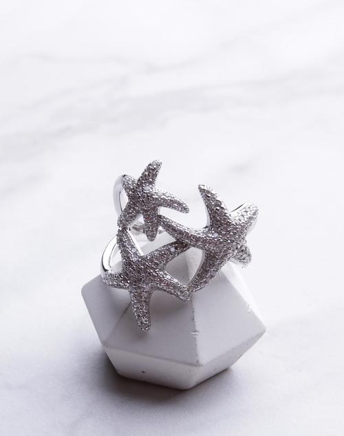 Triple CZ Starfish Ring