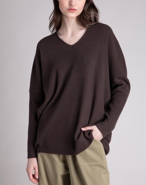 Ribbed V Neck Sweater