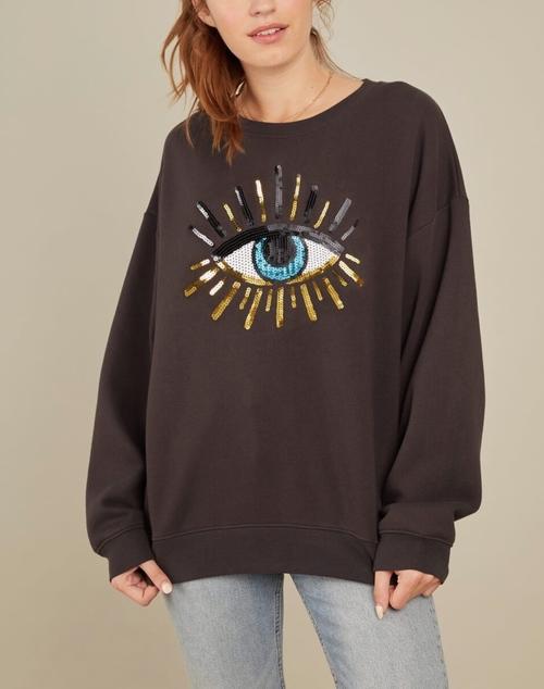 Alexa Oversized Sweatshirt - Evil Eye