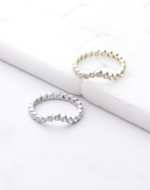 CZ Arrow Bezel Ring