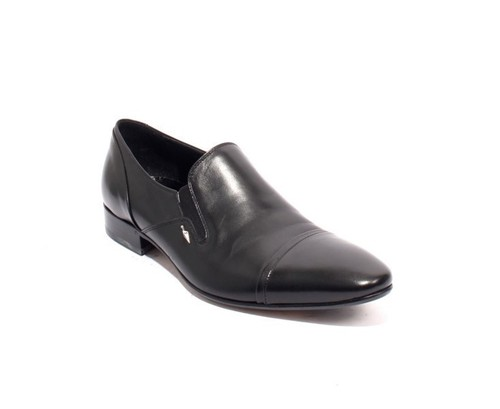 Black Leather / Elastic / Classic Shoes