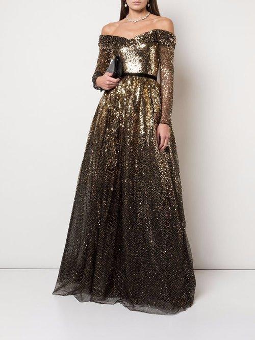 Sequin Degrade Full Gown