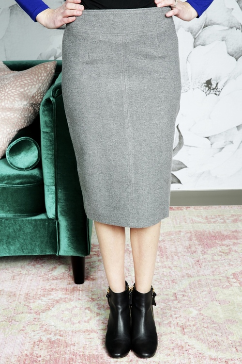 Wooly Woven Pencil Skirt