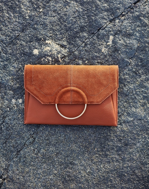 Gwen Clutch Bag - Tan