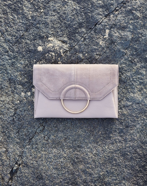 Gwen Clutch Bag - Stone