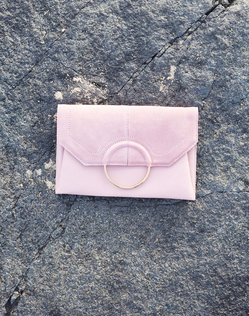 Gwen Clutch Bag - Blush