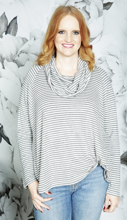 Line It Up Striped Top