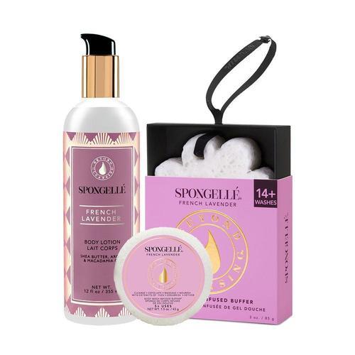 Spongelle French Lavender Body Treatment Set
