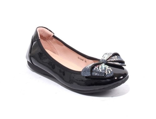 Patent Leather Crystals Accessory Bow Ballet Flats