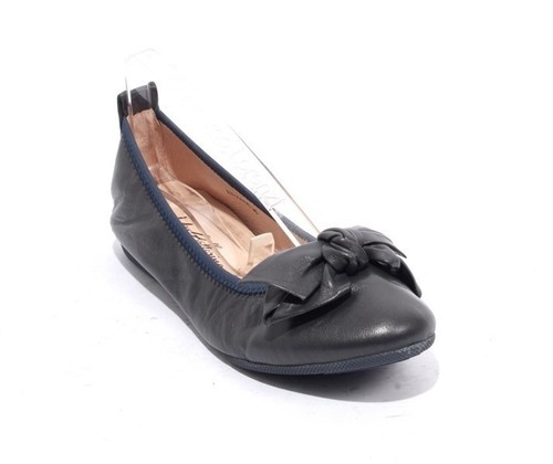 Navy Leather / Bow Comfort Ballet Flats