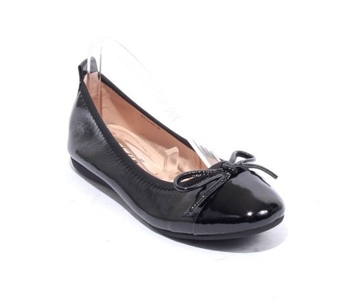 Black Patent Leather Bow Comfort Ballet Flats