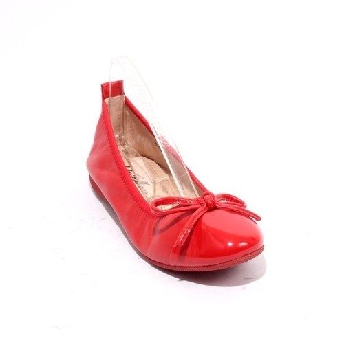 Red Leather / Patent / Bow Comfort Ballet Flats