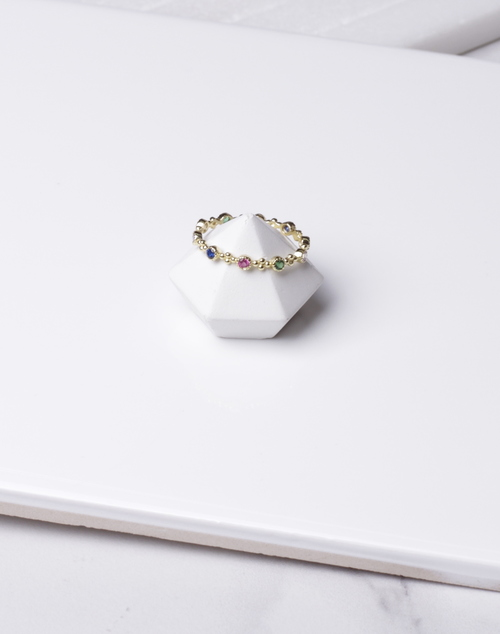Rainbow Multi Stone Ring