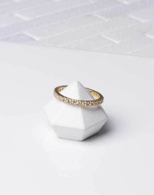 Tiny CZ Infinity Stack Ring
