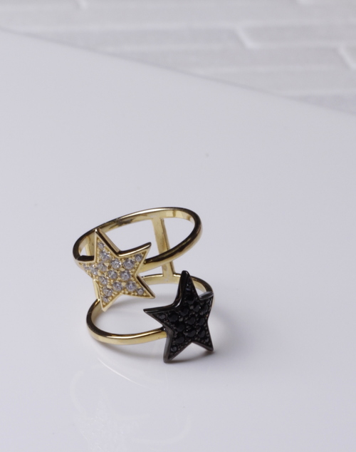 Double Star Wide Ring