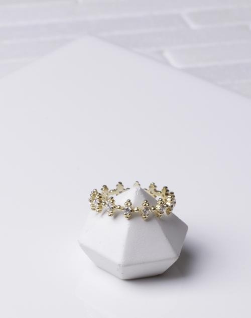Diamond Dot Infinity Ring