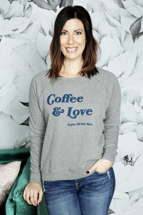 Coffee & Love Enjoy While Hot Long Sleeve Pullover