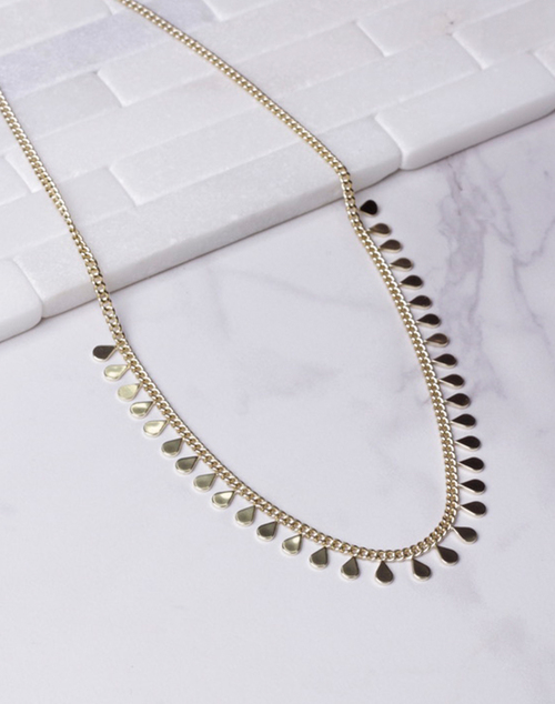 Multiple Teardrop Link Necklace