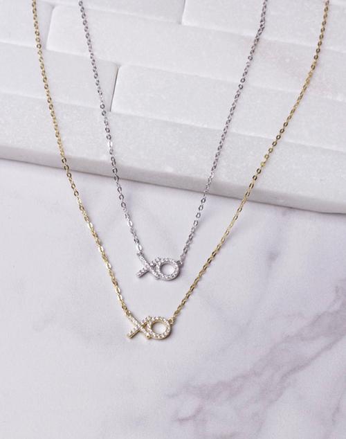 XO CZ Necklace