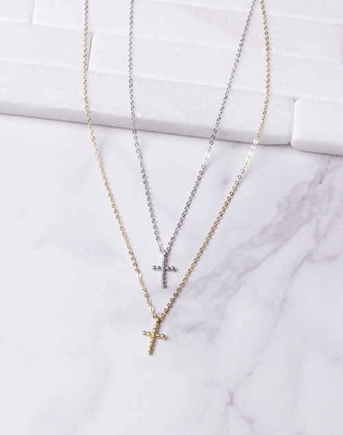 Dot Cross Necklace