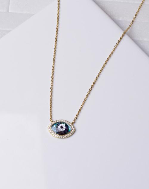 Unique CZ Evil Eye Necklace