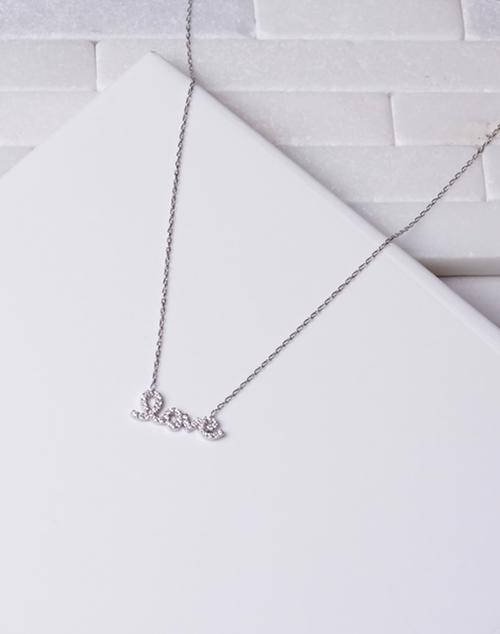 Script CZ Love Necklace